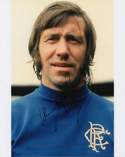 John Greig, Rangers, signed 10x8 inch photo.